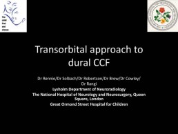 Transorbital approach to dural CCF