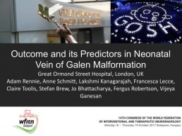 Outcome and its Predictors in Neonatal Vein of Galen Malformation